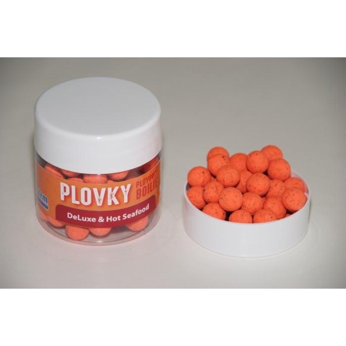 DeLuxe & Hot Seafood plovoucí boilies 100 ml
